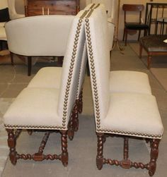19th Century French Barley Twist Chairs image 10