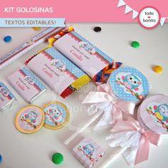Búhos nena: kit etiquetas de golosinas Baby Shawer, Peter Rabbit, Candy, Deco, Birthday, Kids, Book, Birthday Treats, Frozen Party