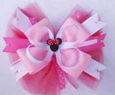 valentines minnie mouse bow by creardesigns on Etsy, $6.50