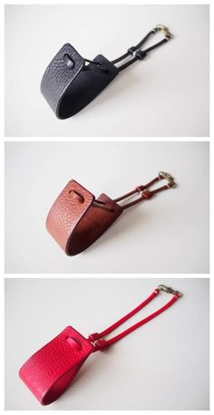 Leather Diy Crafts, Leather Projects, Leather Craft, Leather Accessories, Leather Jewelry, Leather Bag Pattern, Leather Key Holder, Diy Accessoires, Scrappy Quilts