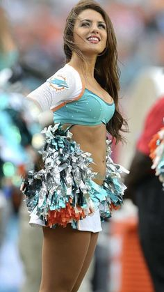 Miami Dolphins Cheerleader Cheerleading Photos, Dallas Cheerleaders, Dolphins Cheerleaders, Hottest Nfl Cheerleaders, College Cheerleading, Cheerleader Girls, Sixpack Workout, Professional Cheerleaders, Girls In Mini Skirts
