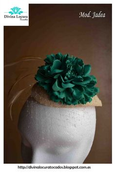 tocados bodas verde esmeralda