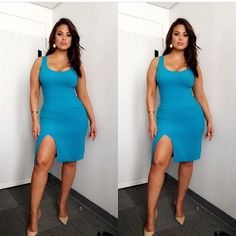 """The Beautiful plus size model Ashley Graham this """"Witherspoon"""" dress! Curvy Girl Fashion, Look Fashion, Plus Size Fashion, Fashion Models, Sexy Outfits, Sexy Dresses, Plus Size Looks, Plus Size Model, Ashley Graham Style"""