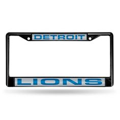 Detroit Lions NFL Laser Cut Black License Plate Frame