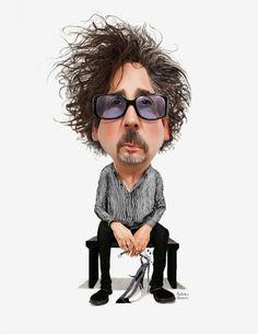 Caricatura de Tim Burton
