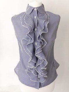 Riviera Ruffle Shirt sewing pattern from Rebecca Page