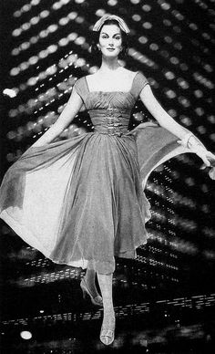 The triple buckles on the bodice are amazing! #vintage #fashion #1950s #dress