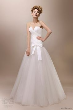 Elegant And Fashionable Wedding Gown By Max Chaoul