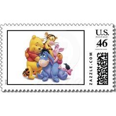 Winne the Pooh and Friends Disney Postage Stamps