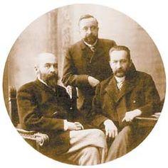 Братья Львовы Вл. (слева), Серг.  и Георгий.