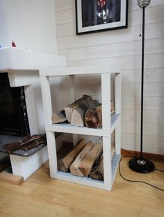 IKEA Hack DIY - Hack a lack to make a firewood storage shelf