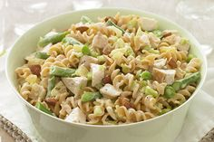 Imagine yourself on a beach feasting on this lusciously fruity chicken pasta salad. Now come back to reality and whip it up for your table tonight.