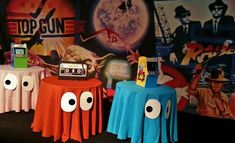 Love for monster party or Halloween. Theme Party by www.biz This is simple and just to darn cute! 80s Birthday Parties, 30th Birthday, Birthday Party Themes, Birthday Table, Birthday Ideas, 90s Party Themes, Diy 80s Party Decorations, 80s Party Foods, Homecoming Decorations