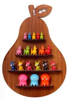 Wooden Pear Shadow Box Shelf. $65.00, via Etsy.