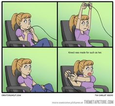how girls play video games... this is so me! Haha