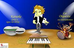 LOS INSTRUMENTOS DE LA ORQUESTA Y KARAOKE , es una aplicación online de la Junta de Castilla y León para trabajar los instrumentos de la or...