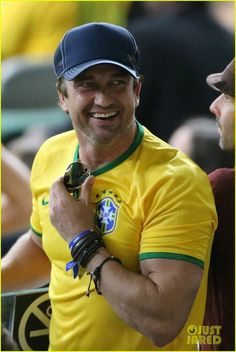 Gerald  Butler at World Cup SF (Brazil Vs Germany)