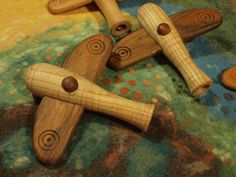 Avion en bois Rolling Pin, Tableware, Decorative Items