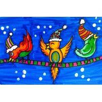1000 images about hiver winter projets d 39 arts plastiques on pinterest arts plastiques - Dessiner un oiseau en maternelle ...