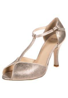 Escarpins à bout ouvert - or Gold Shoes, Madame, Flats, Sandals, Pumps, Heels, Mary Janes, Or, Elegant