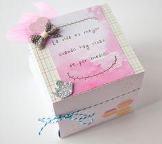 Ideas con los papeles de sinergias de escrap. Todo el post en http://www.fiebredescrapbook.com/2014/04/ideas-album-caja.html#.U1YcK_l_vNE