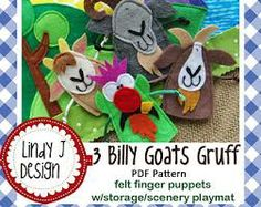 free three billy goats gruff finger puppets printables - Google Search