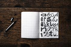 twentysix - hand lettered alphabet on Behance