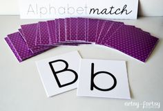 This is a great idea to do with the little ones to help them learn their letters ... Free Printable Alphabet Match Game