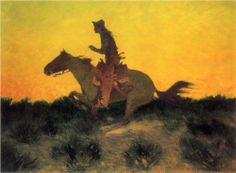 Against the Sunset - Frederic Remington kK