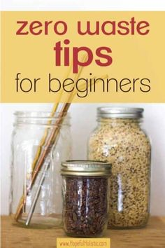 The best zero waste tips for beginners and zero waste products to start out with if you're interested in beginning zero waste- learn about what not to buy and the best place to start when going zero waste here! Cheap Clean Eating, Clean Eating Snacks, Going Zero Waste, Eco Friendly Cleaning Products, Waste Reduction, Stainless Steel Straws, Reduce Waste, Natural Living, Sustainable Living