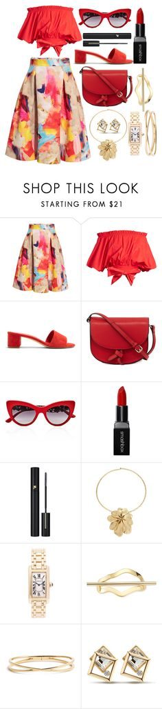 """It's shopping today"" by pulseofthematter ❤ liked on Polyvore featuring H&M, Saloni, Mansur Gavriel, KC Jagger, Dolce&Gabbana, Smashbox, Lancôme, Robert Lee Morris, Cartier and Elizabeth and James"