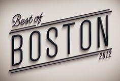 Best of Boston 2012 by Jordan Metcalf, via Behance