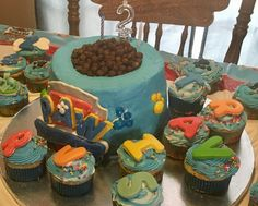 Paw Patrol Birthday cake, 2 years olds, boys party, puppy's, fun, puppy bowl