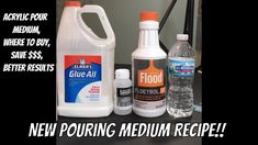 New pouring medium!!! Recipe for pouring medium with Links to buy materi...