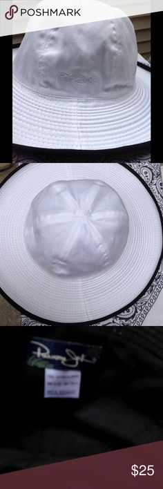 "☀️Panama Jack Beach Hat "" Black & White /wide brim Panama Jack ""Beach Hat with Wide Brim  100% Cotten -this hat will go with any  Perfect for a day at the beach  Panama Jack Accessories Hats"