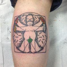 #vetruvianman #homersimpson  #simpsonstattoo thanks again and great to see you @gibmatic_sculpting  #tattoo #tattooist #tattooing #tattooart #tattooartist #torontotattoo #toronto #draw #drawing #art #artwork #illustration #illustrator #artist #torontoartist #torontoart #artatorture #rozlyndubztattoo