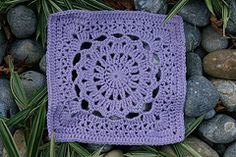 """Ravelry: Drop in the Bucket 12"""" Square pattern by Janie Herrin Moogly #7 Cal pattern"""
