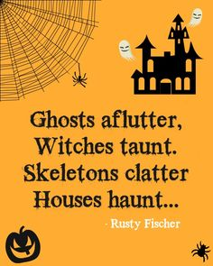 Skeletons clatter... A Halloween poem