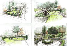 """260 kedvelés, 7 hozzászólás – Wiktor Kłyk (@wiktorklyk) Instagram-hozzászólása: """"Circle garden. Ogród okręgów. #Szczecin #sketchbook #sketch #visualarts #gardens #gardendesigner…"""""""