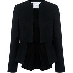 Derek Lam 10 Crosby - Notch peplum hem blazer (33,425 INR) ❤ liked on Polyvore featuring outerwear, jackets, blazers, lightweight blazer, peplum blazer jacket, peplum jacket, blazer jacket and peplum blazer