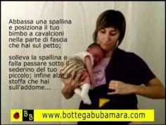 fascia porta bebè lunga come mettere nella posizione pancia a pancia, canguro, marsupio porta bebè