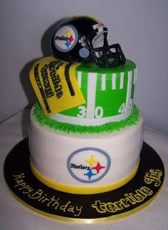 steelers groom's cake... Might end up being a brides cake at my wedding.