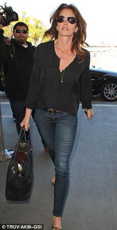 cindy crawford + jeans