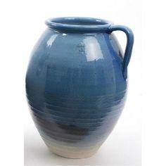 "14"""" Seaside Treasures Hand Crafted True Blue Embossed Jug Style Vase V704-31532077"