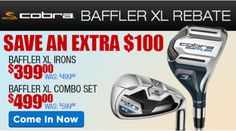 It's baffling how much you can save! Save an extra $100 on Baffler XL Irons and Combo Sets. http://www.progolfseattle.com/current-sale #GolfForeLess
