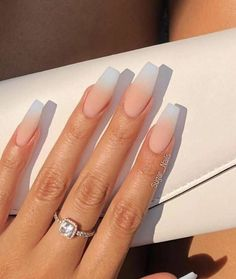 Mar 2020 - - Dress Models - Ästhetische Acrylnägel - Nails To Go, Aycrlic Nails, Matte Nails, Pink Nails, Coffin Nails, Gel Designs, Acrylic Nail Designs, Shellac, Natural Acrylic Nails