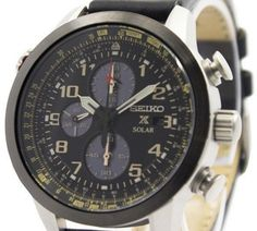 Seiko Men's Solar Chronograph Watch - In Stock, Free Next Day Delivery, Our Price: Buy Online Now Seiko Solar, Seiko Men, Seiko Watches, Chronograph, 100m, Stuff To Buy, Accessories, Delivery, Free