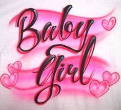 Baby Girl with Hearts Airbrushed Tee or Sweatshirt Baby Girl with Hearts Airbrushed Tee or Sweatshirt <br> Simple & elegant fancy script font with floating hearts around, airbrushed in subtle red & pink colors. Airbrush Designs, Airbrush Art, Airbrush Makeup, Aesthetic Iphone Wallpaper, Aesthetic Wallpapers, Laptop Wallpaper, Fancy Script Font, Chicano Drawings, Skull Drawings