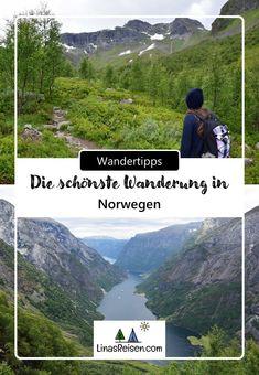 Rimstigenist mit Sicherheit eine der schönsten Wanderungen Norwegens und es ist ein verstecktes Juwel am Nærøyfjord! Fjord, Mountains, Nature, Travel, Good Hiking Boots, Norway, Hiking, Crushed Gravel, Nice Asses