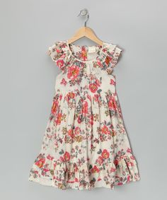 Look at this Pink Antique Floral Dress - Toddler & Girls on #zulily today!